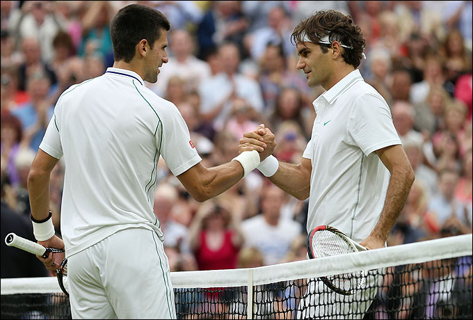 Новак Джокович и Роджер Федерер – фавориты мужского одиночного турнира
