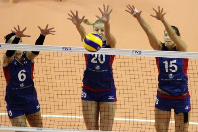 Суббота. Кампинас. Бразилия — Россия — 3:2. Блок сборной России