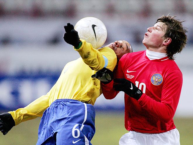 Изначальный вариант формы сборной России 2006 года