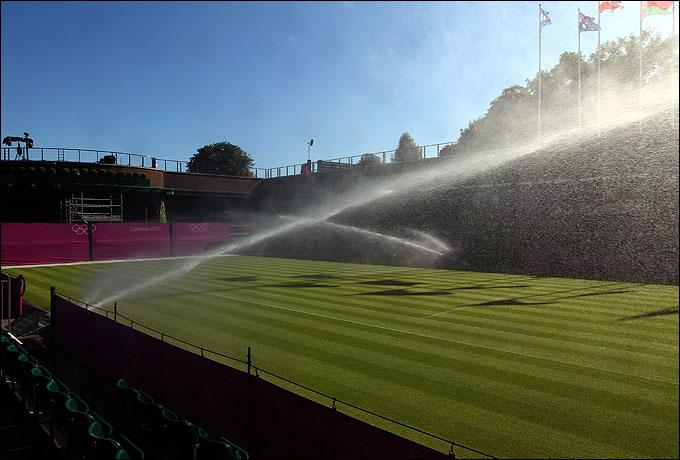 К началу олимпийского турнира газоны Всеанглийского клуба лаун-тенниса и крокета окончательно восстановятся