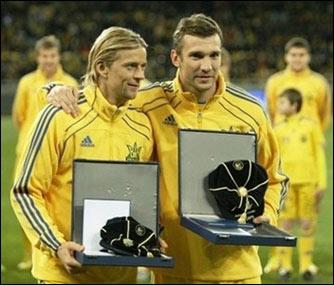 Тимощук — Шевченко: две легенды украинского футбола