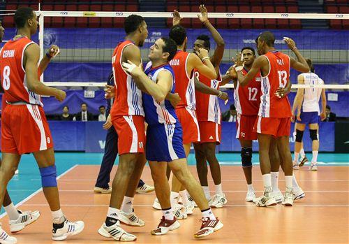 Сборная России уступила в матче с Кубой со счётом 2:3