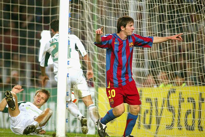 Трудно поверить, что первый гол в Лиге чемпионов Месси забил каких-то 9 лет назад