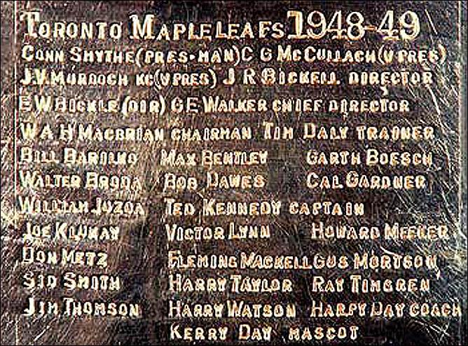 История Кубка Стэнли. Часть 57. 1948-1949. Гравировка на Кубке Стэнли.