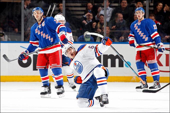 """6 февраля 2014 года. Нью-Йорк. Регулярный чемпионат НХЛ. """"Рейнджерс"""" — """"Эдмонтон"""" — 1:2. Победная шайба Наиля Якупова"""