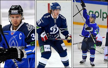 Слева направо: Максим Пестушко, Никлас Бэкстрём и Михаил Рахманов