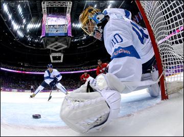 16 февраля 2014 года. Сочи. XXII зимние Олимпийские игры. Хоккей. Групповой этап. Финляндия — Канада — 1:2 (ОТ)