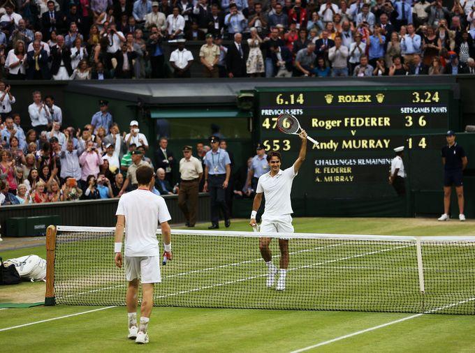 Финал. Роджер Федерер (Швейцария, 3) — Энди Маррей (Великобритания, 4) — 4:6, 7:5, 6:3, 6:4