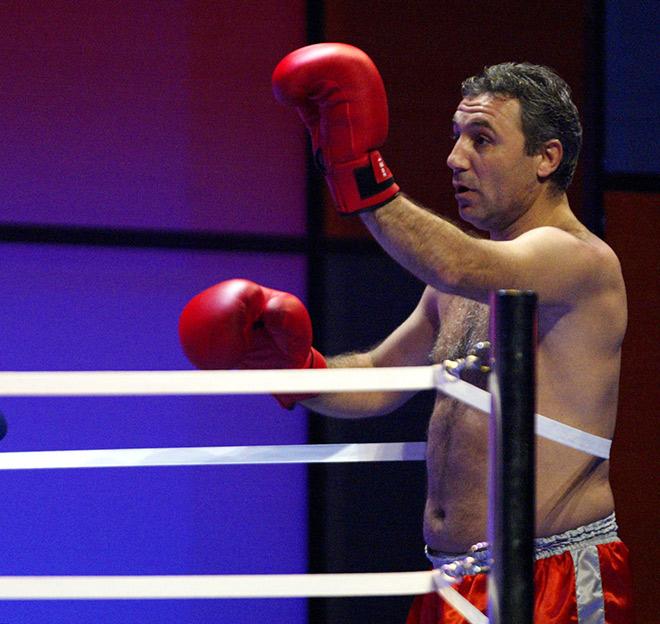 Христо Стоичков на боксёрском ринге