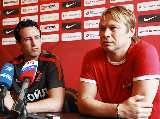 Унаи Эмери и Дмитрий Попов