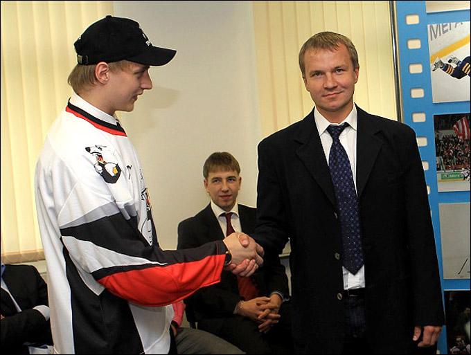 Владимир Кречин на драфте юниоров