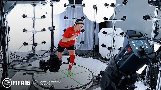 В процессе разработки FIFA 16 футболистки участвовали лично