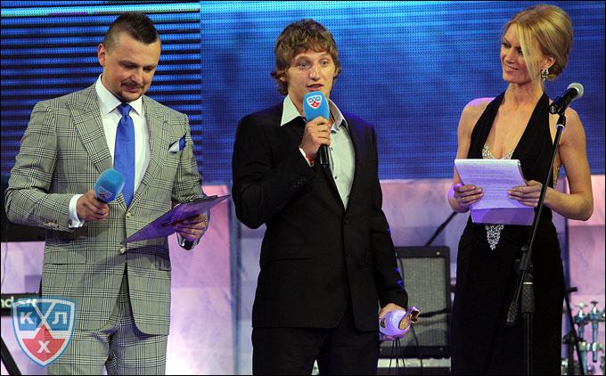 Дмитрий Лугин на закрытии сезона КХЛ