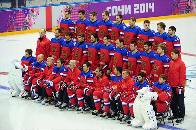 Сборная России по хоккею в новой форме