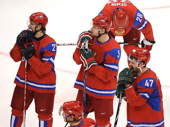 Сборная России по хоккею провалилась в Ванкувере