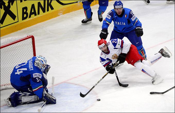 14 мая 2012 года. Стокгольм. Чемпионат мира. Групповой турнир. Италия — Россия — 0:4