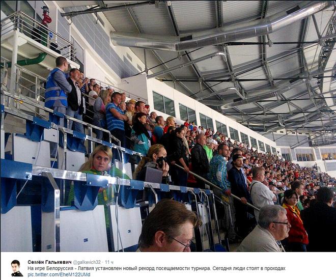 Аншлаг аншлагов на матче Белоруссия — Латвия. То ли ещё будет в плей-офф!