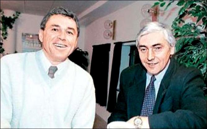 Вацлав Недомански (слева)