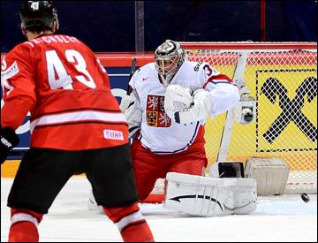 16 мая 2013 года. Стокгольм. Чемпионат мира. 1/4 финала. Швейцария — Чехия — 2:1