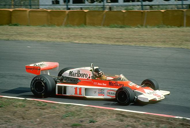 Джеймс Хант на чемпионском Гран-при Японии — 1976