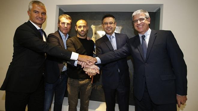 «Барселона» продлила контракт с Маскерано, сумма отступных — € 100 млн