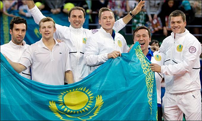 Казахстан обыграл Австрию в 1/8 финала Кубка Дэвиса