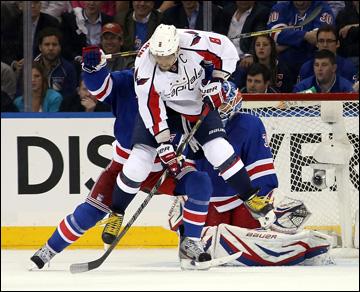 """8 мая 2013 года. Нью-Йорк. Плей-офф НХЛ. 1/8 финала. Матч № 4. """"Рейнджерс"""" — """"Вашингтон"""" — 4:3. Овечкина сдерживали любыми способами"""