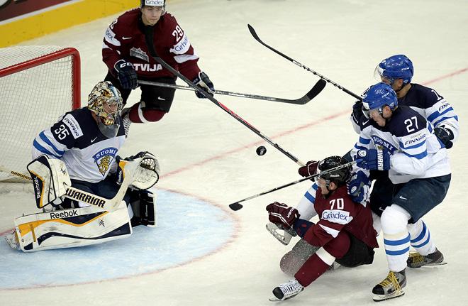 В первом матче чемпионата мира финны проиграли сборной Латвии