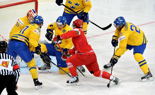 22 мая 2014 года. Минск. Чемпионат мира. 1/4 финала. Швеция — Белоруссия — 3:2