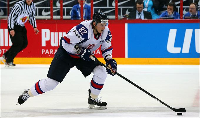 Томаш Копецки в составе сборной Словакии на чемпионате мира 2013 года
