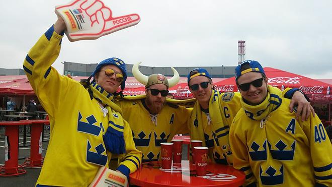 «Разминка» шведских фанатов
