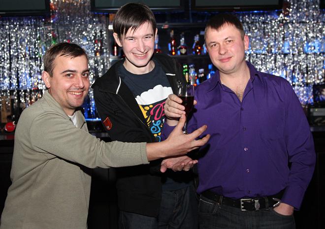 Денис Целых, Михаил Тяпков и Олег Лысенко