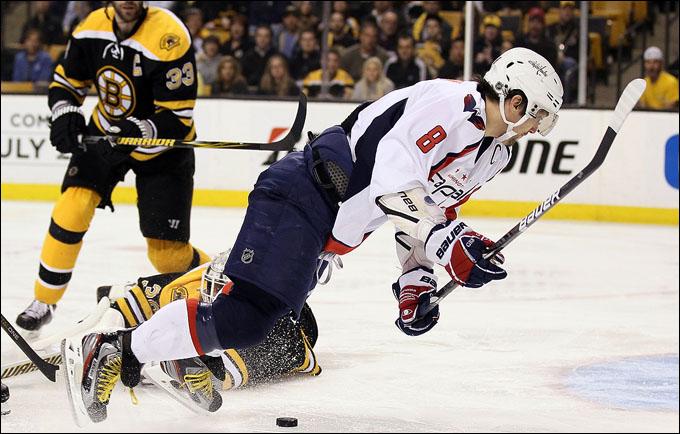 "26 апреля 2012 года. Бостон. Плей-офф НХЛ. 1/8 финала. ""Бостон Брюинз"" — ""Вашингтон Кэпиталз"" — 1:2 (ОТ)"