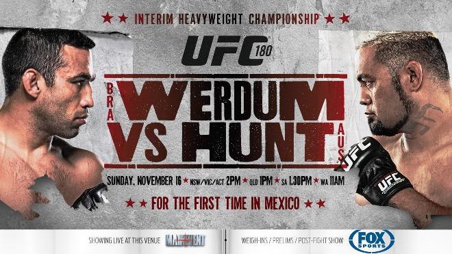 Постер к турниру UFC 180