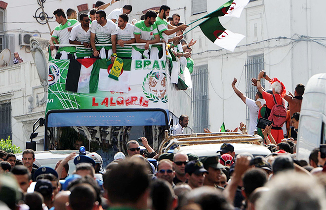 Сборная Алжира вернулась домой с чемпионата мира в Бразилии