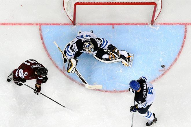 10 мая 2014 года. Минск. Чемпионат мира по хоккею. Групповой этап. Латвия — Финляндия — 2:3