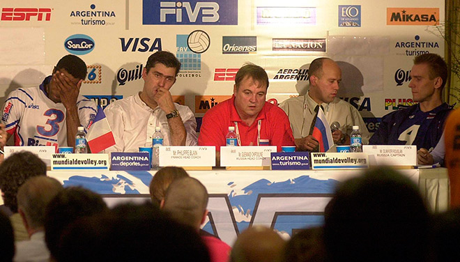 Пресс-конференция после полуфинального матча Россия — Франция
