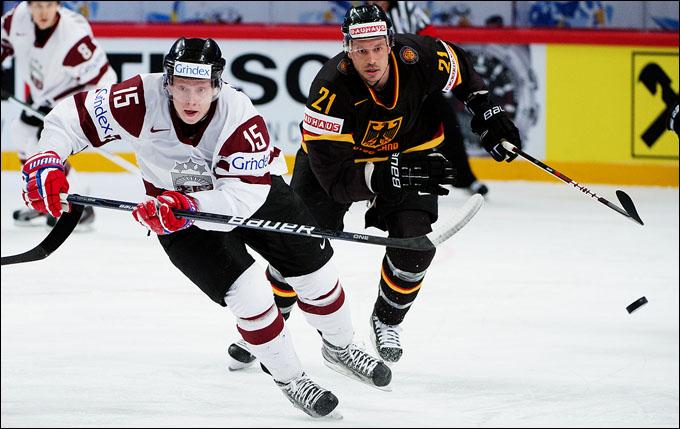 6 мая 2012 года. Стокгольм. Чемпионат мира. Групповой турнир. Германия — Латвия — 2:3
