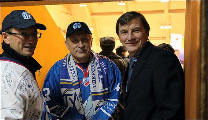Юрий Рычков с болельщиками ТХК