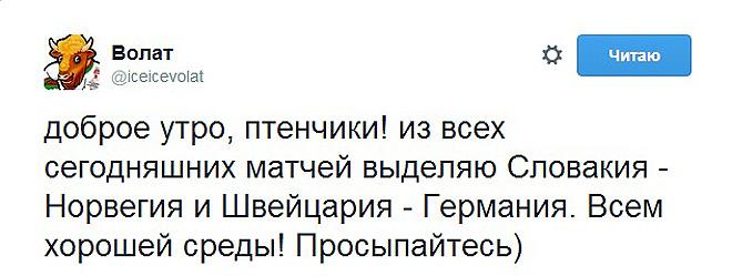 Твиттер официального талисмана чемпионата мира в Минске