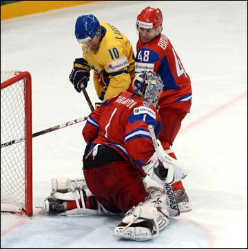 Евгений Бирюков против сборной Швеции