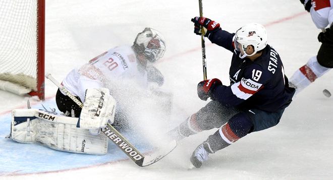 10 мая 2014 года. Минск. Чемпионат мира по хоккею. Групповой этап. США — Швейцария — 3:2