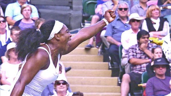 Серена Уильямс сумела перевести матч в третий сет.