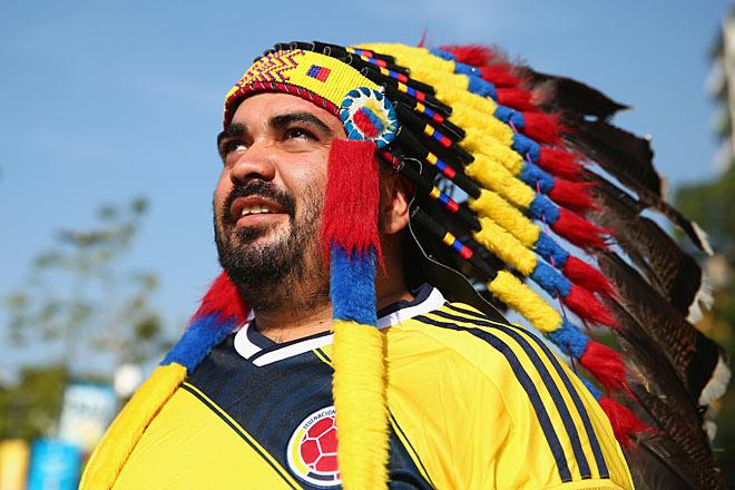 Фанат сборной Колумбии