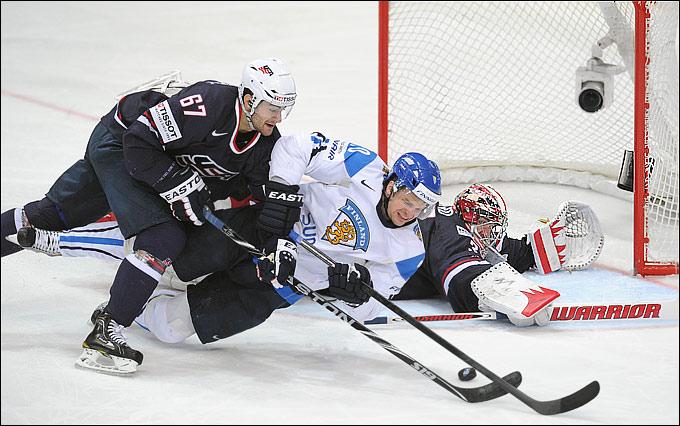 17 мая 2012 года. Хельсинки. Чемпионат мира. 1/4 финала. США — Финляндия — 2:3
