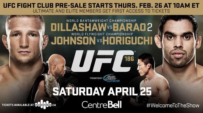 Постер к турниру UFC 186