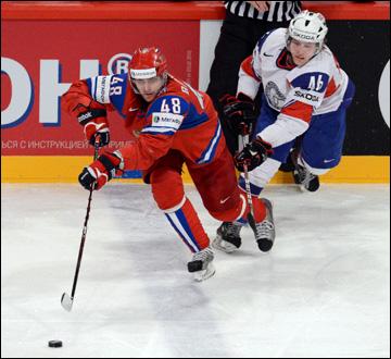 Евгений Бирюков против сборной Норвегии