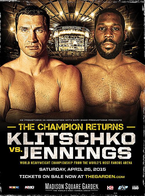 Постер к бою Кличко — Дженнингс