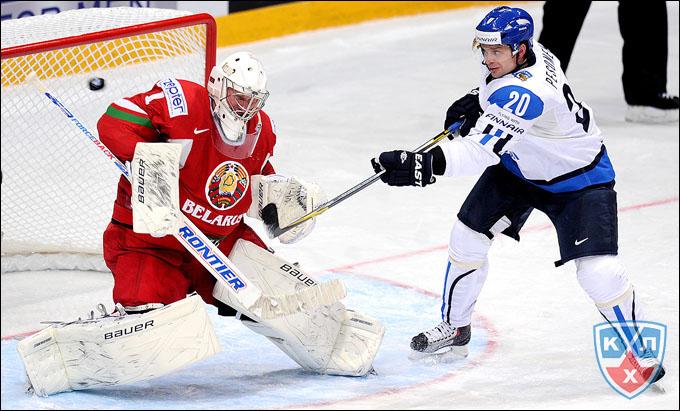 4 мая 2012 года. Хельсинки. Чемпионат мира. Групповой турнир. Белоруссия — Финляндия — 0:1