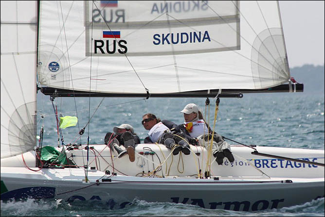Экипаж Екатерины Скудиной завоевал первую российску олимийскую путёвку в Лондон